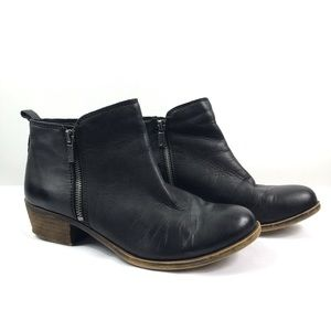 Lucky Brand | Black Leather Basel Booties